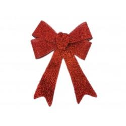 Kokarda dekoracyjna podwójna czerwona błyszcząca