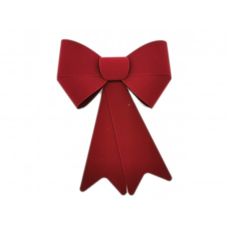 Kokarda dekoracyjna podwójna czerwona matowa