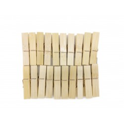 Bambusowe spinacze klamerki do ubrań bielizny, 20 szt.
