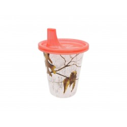 Kubek niekapek plastikowy + ustnik, 296 ml, 3 wzory