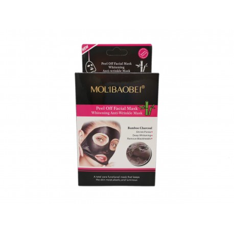 Czarna maska węglowa do twarzy MALIBAOBEI, 10 saszetek