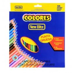Kredki szkolne ołówkowe 24 kolory zestaw
