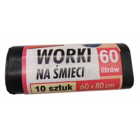 Worki na śmieci TOP 60 x 80 cm, 60l, 10 szt.