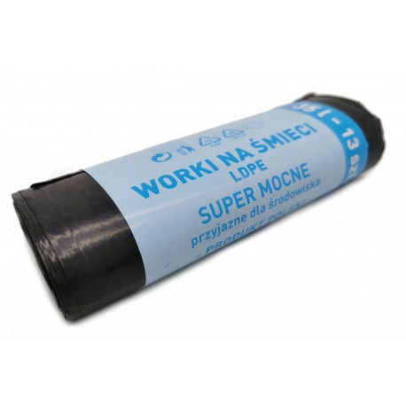 Worki na śmieci LDPE Super Mocne 35l, 13 szt.