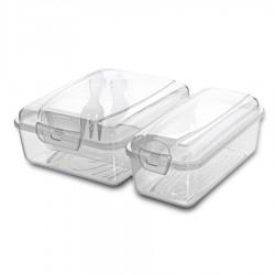 Pojemnik Lunch Box Titiz 2 przegródki + sztućce
