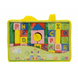 Klocki drewniane literki dla dzieci