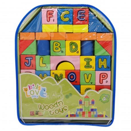 Klocki edukacyjne dla dzieci - drewniane literki