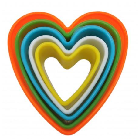 Foremki plastikowe do wykrawania ciastek, serca