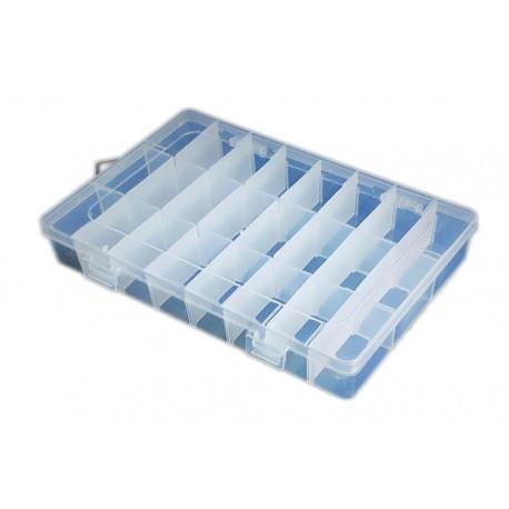 Organizer pojemnik przezroczysty pudełko na śrubki drobiazgi - 8 przegródek