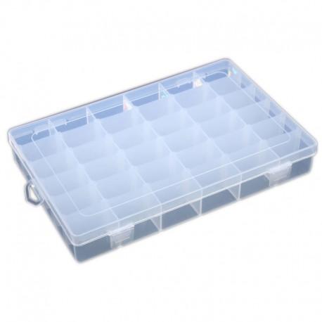Organizer pojemnik przezroczysty pudełko na śrubki drobiazgi - 36 przegródek