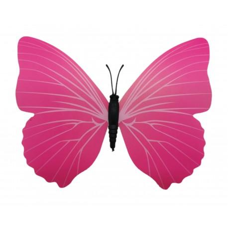 Magnes motyl 3D ozdobny na lodówkę M58 - różowy