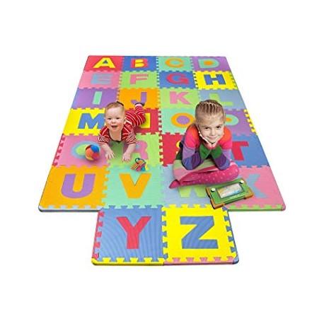 Puzzle piankowe mata edukacyjna litery cyfry