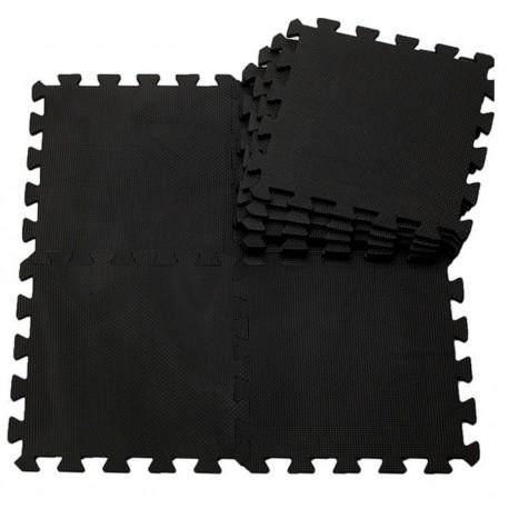 Mata na podłogę PUZZLE piankowe czarne 50 x 50 cm, 4 szt.