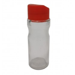 Solniczka pieprzniczka szklana czerwona lub niebieska