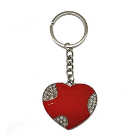 Metalowy brelok serce do kluczy breloczek