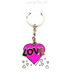 Brelok serce do kluczy breloczek Love