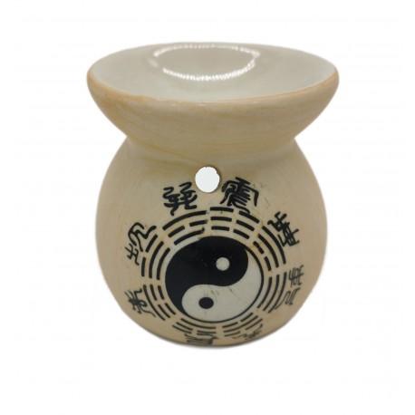 Kominek zapachowy do olejków wosków, świecznik kamienny