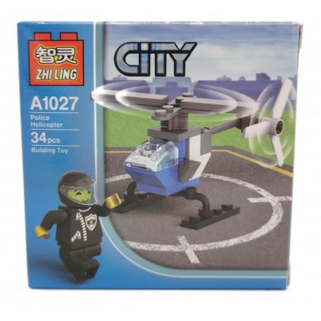 Klocki konstrukcyjne CITY mini samolot ludzik
