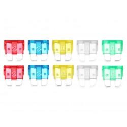 Bezpieczniki samochodowe MIDI płytkowe, 10A-30A, zestaw 10 szt.