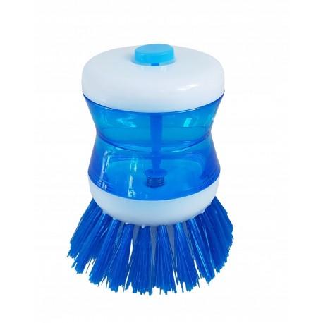 Szczotka zmywak do mycia naczyń na płyn z dozownikiem