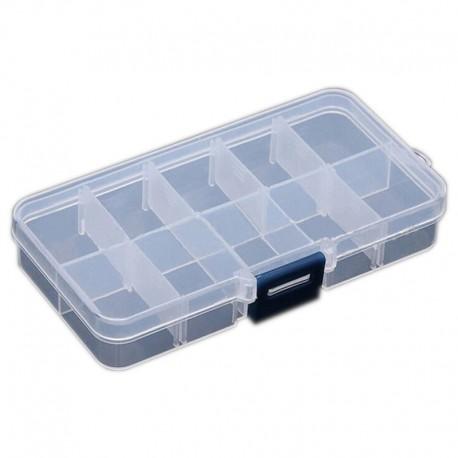 Organizer pojemnik przezroczysty pudełko na śrubki drobiazgi - 10 przegródek