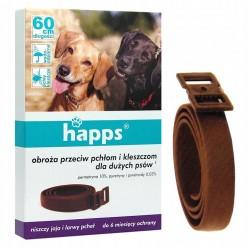 HAPPS Obroża przeciw pchłom i kleszczom dla dużych psów